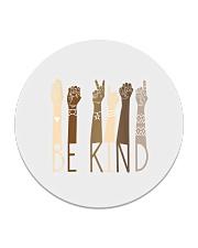 Be Kind Sign Language Hand Talking Teachers Circle Coaster tile