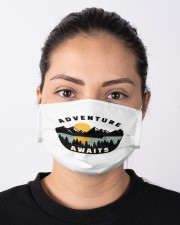 Camping Adventure Awaits Quote Love Camp Summer  Cloth face mask aos-face-mask-lifestyle-01