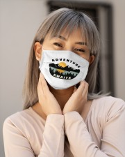 Camping Adventure Awaits Quote Love Camp Summer  Cloth face mask aos-face-mask-lifestyle-17