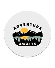 Camping Adventure Awaits Quote Love Camp Summer  Circle Coaster thumbnail