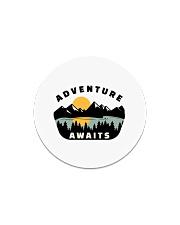 Camping Adventure Awaits Quote Love Camp Summer  Circle Magnet thumbnail