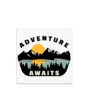 Camping Adventure Awaits Quote Love Camp Summer  Square Magnet thumbnail