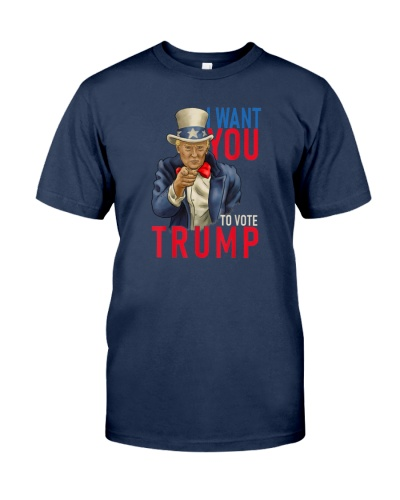 Funny Vintage I Want You to Vote Trump 2020