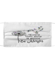 every little thing is gona be alright Cloth face mask front
