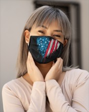 I love you heart American flag Cloth face mask aos-face-mask-lifestyle-17