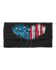 I love you heart American flag Cloth face mask front