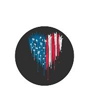I love you heart American flag Circle Cutting Board thumbnail
