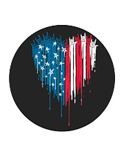 I love you heart American flag Circle Coaster thumbnail