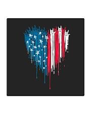I love you heart American flag Square Coaster thumbnail