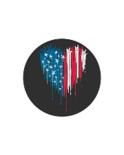 I love you heart American flag Circle Magnet thumbnail