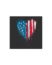 I love you heart American flag Square Magnet thumbnail