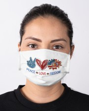 Love and peace Cloth face mask aos-face-mask-lifestyle-01