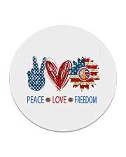 Love and peace Circle Coaster thumbnail