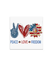 Love and peace Square Magnet thumbnail