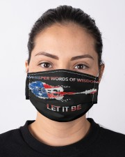 Let It Be - Whisper Words Of Wisdom Cloth face mask aos-face-mask-lifestyle-01