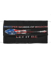 Let It Be - Whisper Words Of Wisdom Cloth face mask front