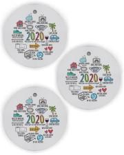 2020 Circle Ornament (Wood tile
