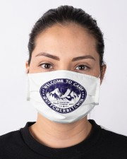 Welcome To Camp Quitcherbitchin Camper Cloth face mask aos-face-mask-lifestyle-01