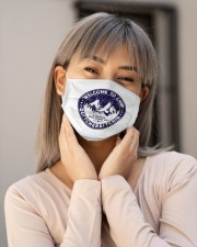Welcome To Camp Quitcherbitchin Camper Cloth face mask aos-face-mask-lifestyle-17