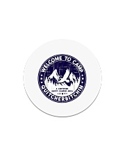 Welcome To Camp Quitcherbitchin Camper Circle Magnet thumbnail
