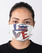 Love peace van Cloth face mask aos-face-mask-lifestyle-01