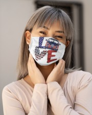 Love peace van Cloth face mask aos-face-mask-lifestyle-17