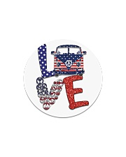 Love peace van Circle Magnet thumbnail