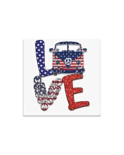 Love peace van Square Magnet thumbnail