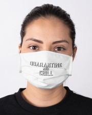 Quarantine and Chill Funny Virus Cloth face mask aos-face-mask-lifestyle-01