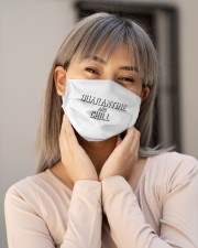 Quarantine and Chill Funny Virus Cloth face mask aos-face-mask-lifestyle-17