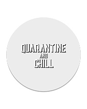 Quarantine and Chill Funny Virus Circle Coaster tile