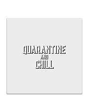 Quarantine and Chill Funny Virus Square Coaster tile
