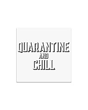Quarantine and Chill Funny Virus Square Magnet tile