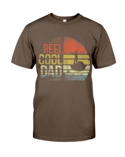 Mens Reel Cool Dad Fisherman Daddy Father's Day