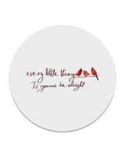 every little thing is gona be alright bird Circle Coaster tile