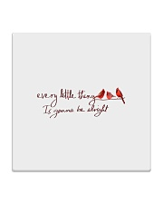every little thing is gona be alright bird Square Coaster thumbnail