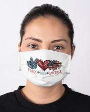 Peace love america Cloth face mask aos-face-mask-lifestyle-01