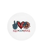 Peace love america Circle Cutting Board tile