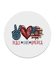 Peace love america Circle Coaster tile