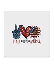 Peace love america Square Coaster tile