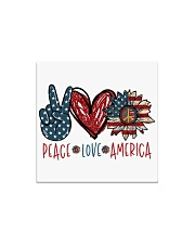 Peace love america Square Magnet tile