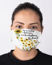 Be Kind Sign Language Elephant Sunflower Cloth face mask aos-face-mask-lifestyle-01