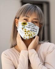 Be Kind Sign Language Elephant Sunflower Cloth face mask aos-face-mask-lifestyle-17