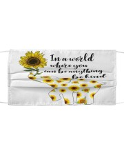 Be Kind Sign Language Elephant Sunflower Cloth face mask front