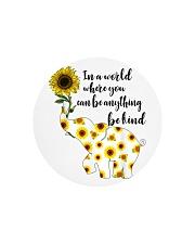 Be Kind Sign Language Elephant Sunflower Circle Cutting Board thumbnail