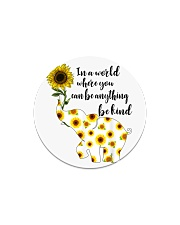 Be Kind Sign Language Elephant Sunflower Circle Magnet thumbnail