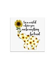 Be Kind Sign Language Elephant Sunflower Square Magnet thumbnail