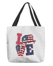 Love Camping USA Flag Flip Flop Camper All-over Tote thumbnail