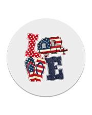 Love Camping USA Flag Flip Flop Camper Circle Coaster thumbnail