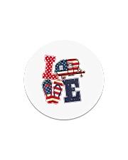 Love Camping USA Flag Flip Flop Camper Circle Magnet thumbnail